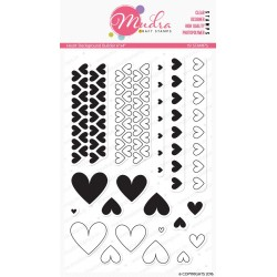 Mudra Craft Stamps - Heart Background Builder
