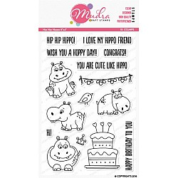Mudra Craft Stamps - Hip Hop Hippo