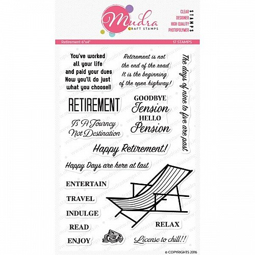 Mudra Craft Stamps - Retirement