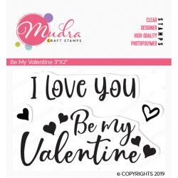 Mudra Craft Stamps - Be my Valentine