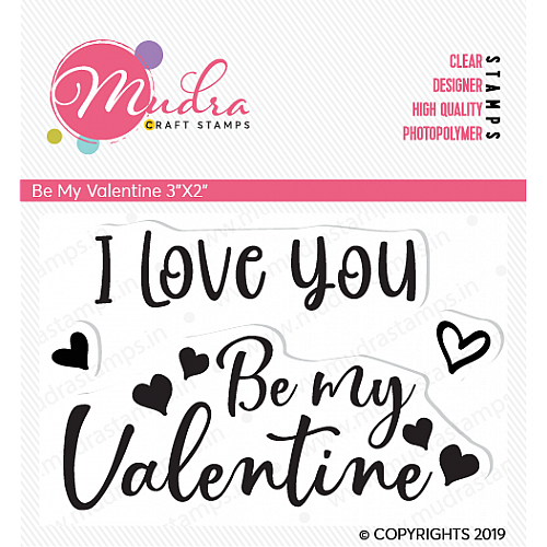 Mudra Craft Stamps - Be my Valentine