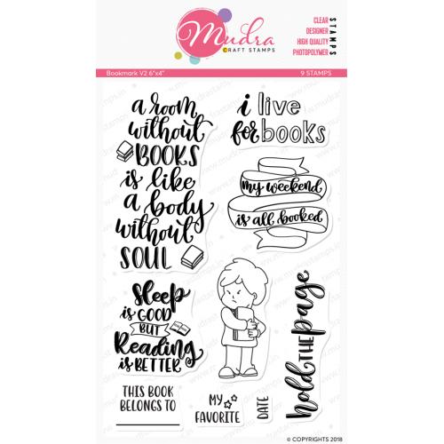 Mudra Craft Stamps - Bookmark V2