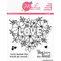 Mudra Craft Stamps - Floral Love