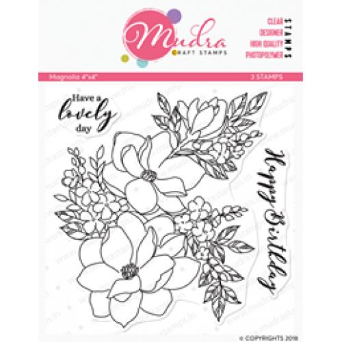Mudra Craft Stamps - Magnolia