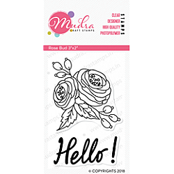Mudra Craft Stamps - Rose Bud