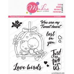 Mudra Craft Stamps - Tweet Heart
