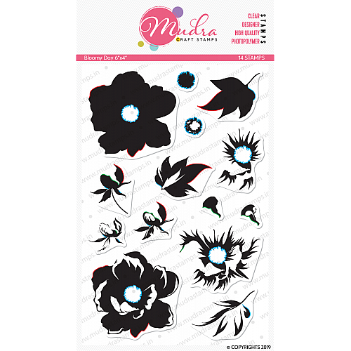 Mudra Craft Stamps - Bloomy Day