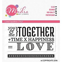 Mudra Craft Stamps - Love Equation