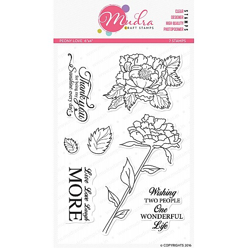 Mudra Craft Stamps - Peony Love