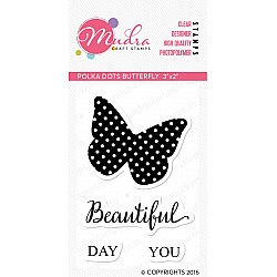Mudra Craft Stamps - Polka Dots butterfly