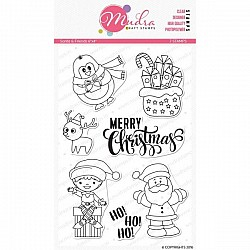 Mudra Craft Stamps - Santa and Friends