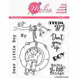 Mudra Craft Stamps - Tire Boy