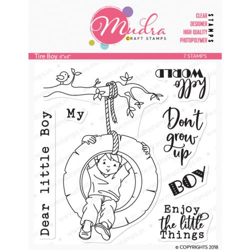 Mudra Craft Stamps - Tire Boy