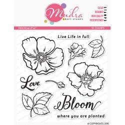 Mudra Craft Stamps - Wild Rose