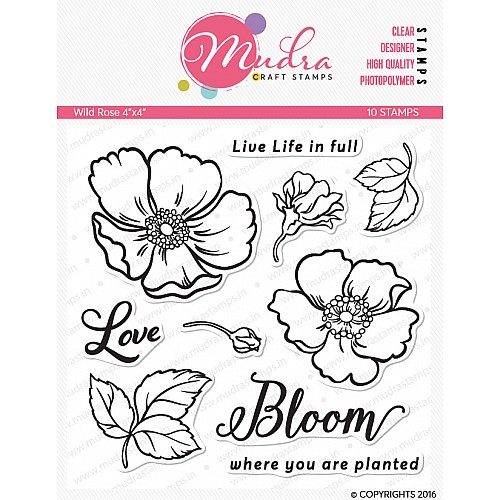 Mudra Craft Stamps - Wild Rose