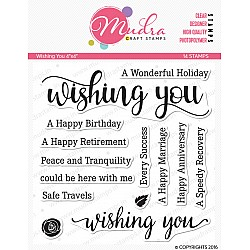 Mudra Craft Stamps - Wishing You