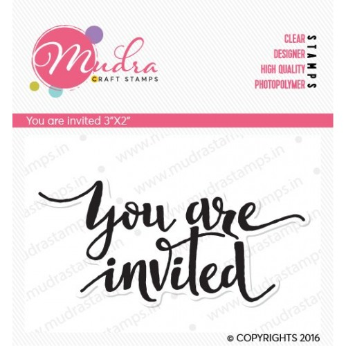 Mudra Craft Stamps - You are Invited