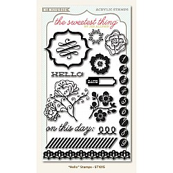 My Minds Eye The Sweetest Thing - Hello Clear Stamp