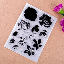 Layered Flowers Design 1 Clear Stamp set