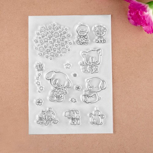 Cute dogs Clear Stamp set