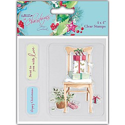 Papermania Clear Stamp - At Christmas Chair