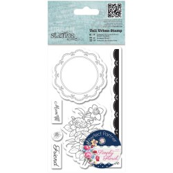 Papermania Tal Urban Cling Stamp - Flower Doily