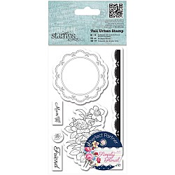 Papermania Tall Urban Cling Stamp - Flower Doily