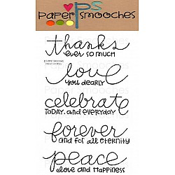 Paper Smooches Clear Stamp -  Pretty Phrases