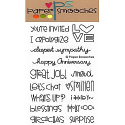Paper Smooches Clear Stamp -  Good Gab