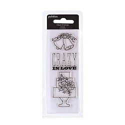 Pebbles Clear Stamp - Crazy in Love