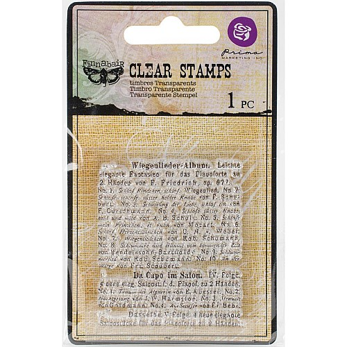 Prima's Finnabair Collections Clear Stamp - Read To Me