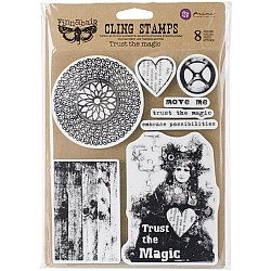 """Finnabair Cling Stamps 6""""X7.5"""" - Trust The Magic by Prima"""