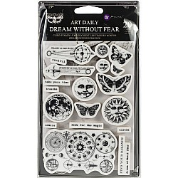 Prima Art Daily Planner Clear Stamps - Dream Without Fear