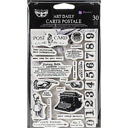 Prima Art Daily Planner Cling Stamps - Carte Postale