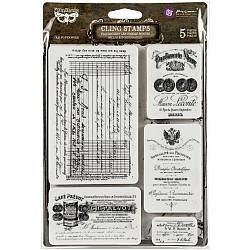 "Old Paperwork Finnabair Cling Stamps 6""X7.5"" by Prima"