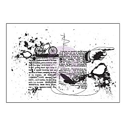 "Prima Cling Stamp 3.5""X5"" - Pictionary"