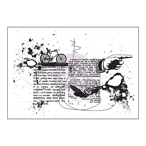 Prima Cling Stamp 3.5X5 - Pictionary