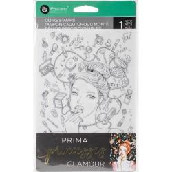 "Prima Marketing Princesses Cling Stamp 5""X7"" - Glamour"
