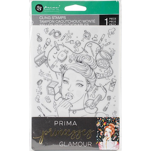 "Prima Marketing Princesses Cling Stamp 5""X7"" - Glamour"