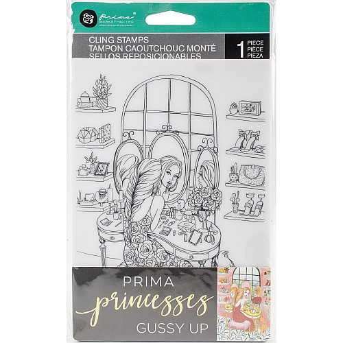 "Prima Marketing Princesses Cling Stamp 5""X7"" - Gussy Up"