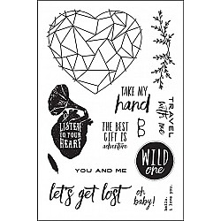 """Prima Wild and Free Cling Rubber Stamps 4""""X6"""""""