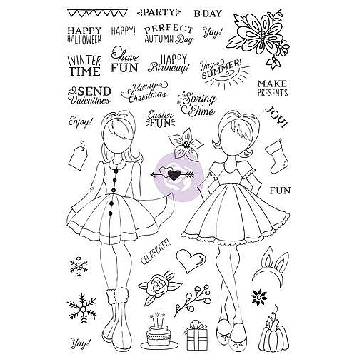Holiday Bliss Julie Nutting Planner Stamp by Prima