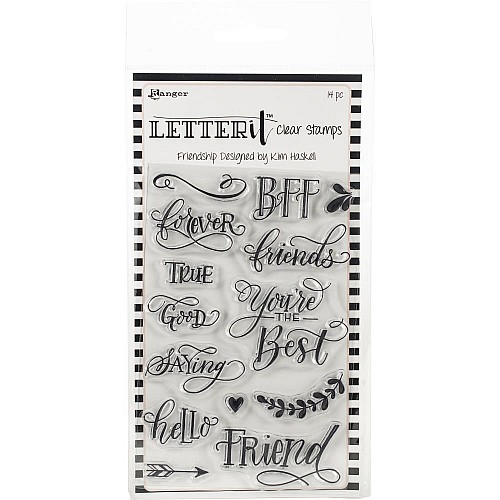 Ranger Letter It Clear Stamp Set 4X6 - Friendship