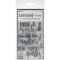 Ranger Letter It Clear Stamp Set 4X6 - Lets Party