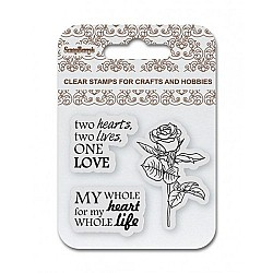 "ScrapBerry's Clear Stamps 2.7""X2.7"" - One Love"
