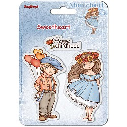 "ScrapBerry's Sweetheart Clear Stamps 4""X4"" - Happy childhood (SCB4907005B)"