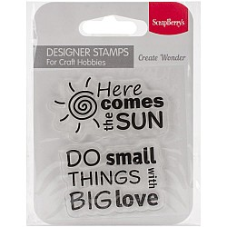 "ScrapBerry's Clear Stamps 2.7""X2.7"" - Sun"