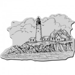 Stampendous Cling Rubber Stamps - Portland Head Lighthouse