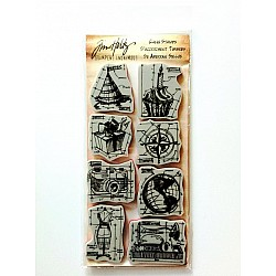 Tim Holtz Cling Stamps - Blueprint Assortment