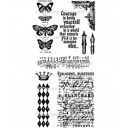 Tim Holtz Cling Stamps - Butterfly Melange